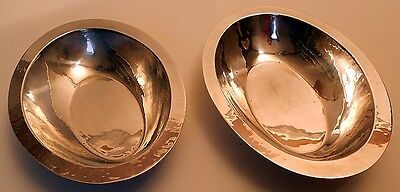 Hand wrought sterling bowls, pair, pattern #588, Randahl of Chicago.