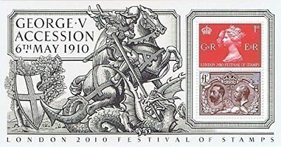 2010 Accession of King George V Miniature Sheet No. 70 - Royal Mail (g8r)