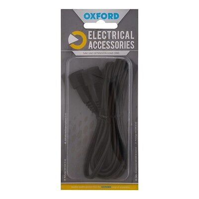 New Oxford Motorcycle Motorbike 3m Extension Lead SAE to SAE Connector EL108