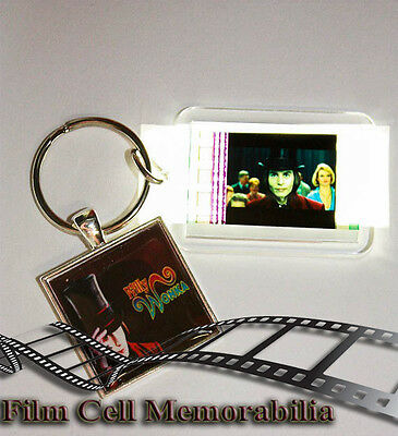 Willy Wonka - 35mm Film Cell Movie KeyRing and Pendant Keyfob Gift