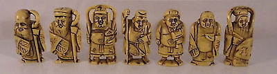 Asien Japan 7 Netsuke Miniaturen Figuren Repliken in Beinoptik
