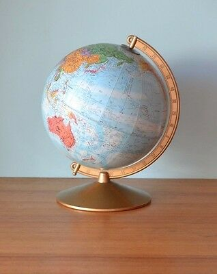 Vintage Replogle world Globe 10 inch Retro world map Industrial 3195 No 515
