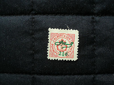 J. Albert & Son. Royalty Stamp. 2. 5/8D