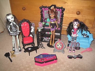 Monster High Furniture and Dolls