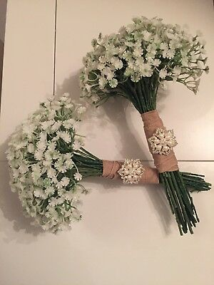 Gypsophila Wedding Bouquet, Baby's Breath Bouquet, Bridal Flowers Bouquet