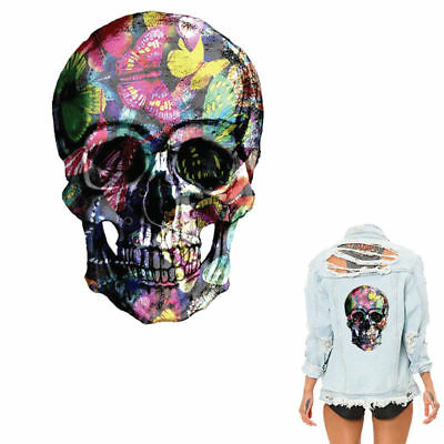 Heat Transfer For Clothes Skull Iron On Patches DIY Cloth Decoration Printing