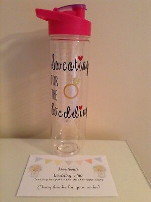 Sweating For The Wedding Gym Bottle, Bride Gift, Personalised Water Bottle