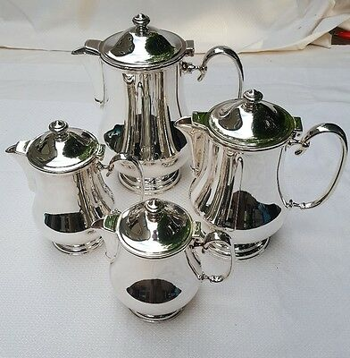 Christofle Neptune Silverplate Coffee and Tea Pots (all four)