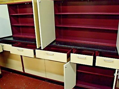 Fisher Hamilton Laboratory Base Cabinets Casework Lab Wall Cabinets 30 Ft Total