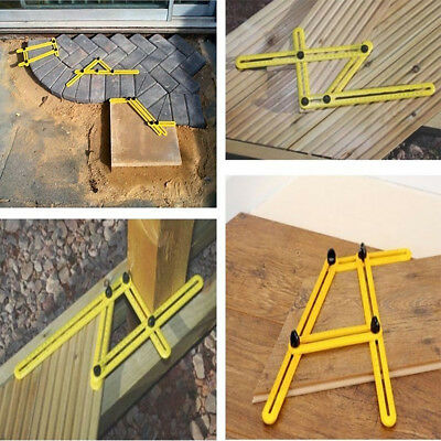 Folding Four-Sided Multi-Angle Ruler Template Tool For Tile &Flooring Measuring