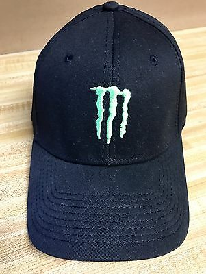New Monster Energy Drink A-FLEX Elastic Band Ball Cap Nice 2008 Anheuser-Busch