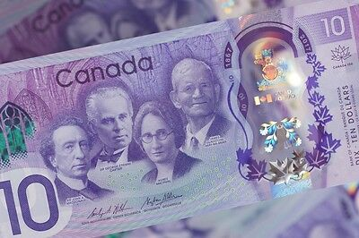 New Canadian Commemorative Ten Dollar ($10) 150th Anni Bill