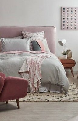 FUN BEDHEADS  Queen Size Flanged Edge Upholstered Bedhead