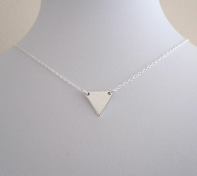 925 Sterling silver small TRIANGLE floating necklace