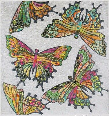 The Modern Butterfly - raw edge applique wall Quilt PATTERN