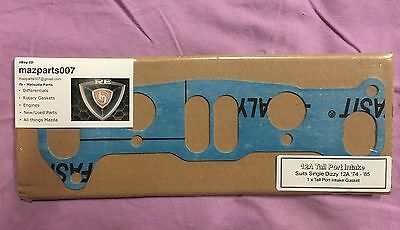 MAZDA ROTARY 12A TALL PORT ENGINE INLET MANIFOLD GASKET 74-85 !! Free Post AU !!