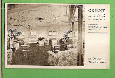 #n. Shipping  Postcard -  Orient Line To Australia, S.s. Osterley