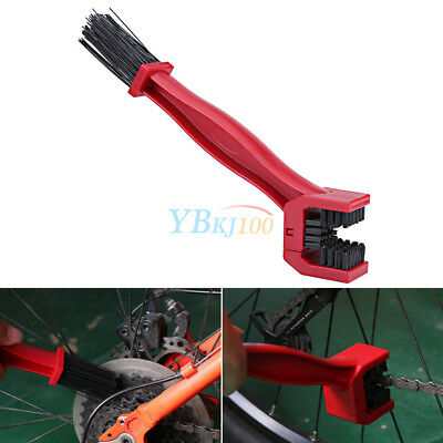 New Portable Cycling Motorcycle Gear Chain Brush Cleaner Cleaning Tool Red