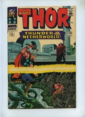Thor #130 - Marvel 1966 - VG- - Pence