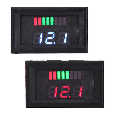12V LCD Lead Acid Li-ion Battery Capacity Voltage Indicator Dual Display New