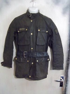 Vintage 70's Belstaff Trialmaster Pro Waxed Motorcycle Jacket Size S