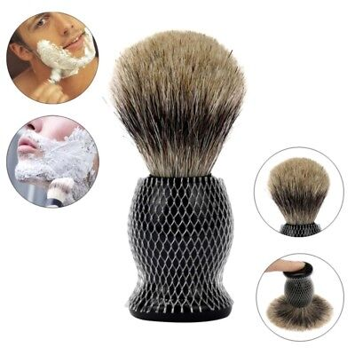 AU Men Hair Shaving Brush Badger Hair Brushes Resin Handle Shave Tool Pure Black