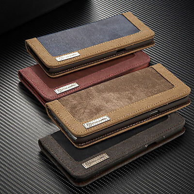 Luxury Canvas Flip Card Wallet Stand Case Magnetic Cover For Samsung S8 S7 Edge