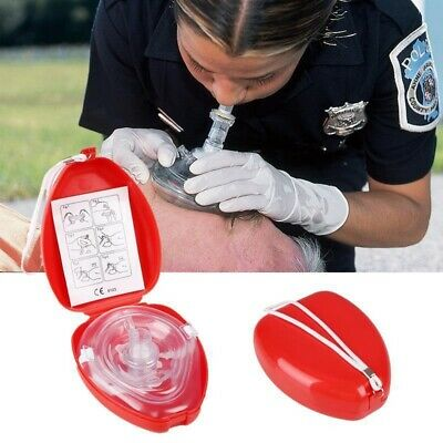 Portable First Aid Masks CPR Breathing Mask Breath One-way Small Travel Pocket