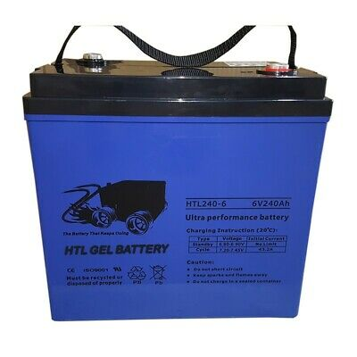 Golf Cart 36V  Set Ultra High Performance Gel Battery 240 Amp 6V X 6