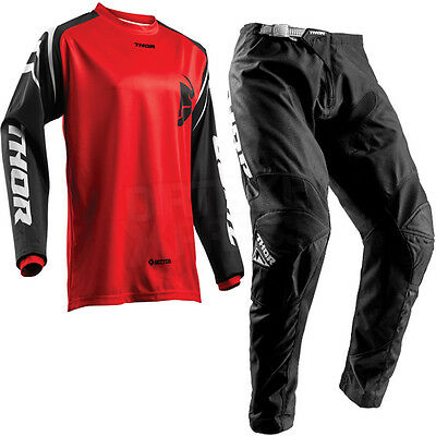 New 2018 Thor Sector Motocross Kit Combo Jersey & Pants Zones Red