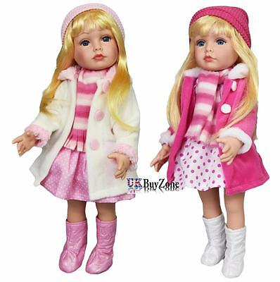 """18"""" Fashion Girl Doll Long Hair Modern Outfit Fasion Clothes Poseable Limbs"""