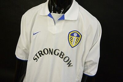 2002-2003 Nike Leeds United Home Football Shirt SIZE 2XL (XXL adults)