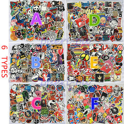 100PCS/lot Sticker Bomb Decal Vinyl Roll Car Skate Skateboard Laptop Luggage