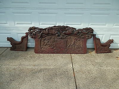 Beautiful Vintage Bench Carving