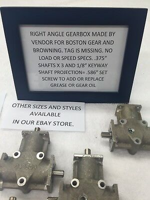 Vendor Made For Boston Gear, Browning 3 Shaft Right Angle Gearbox  Bevel Gear
