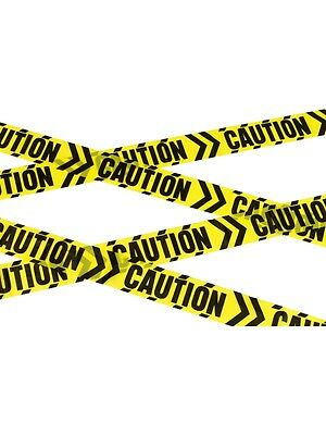Caution Chevron Tape 6mtr Crime Scene/Halloween/April Fool/Joke/Police/Barrier