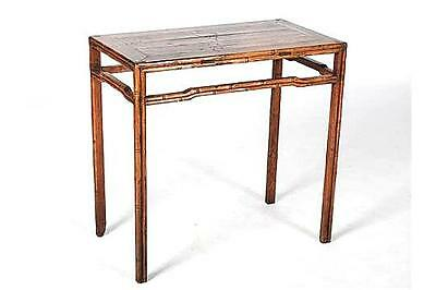 Chinese Qing Dynasty Rustic Table Bamboo Style