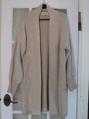 Vintage 70s 80s Slouchy Cocoon Wrap Sweater Coat Cardigan  L