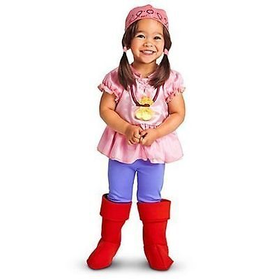 Disney Store Toddler Girl Izzy Jake and the Neverland Pirates Costume Size 2T