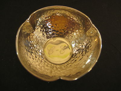 "Vintage Sterling 925 Silver Small Ashtray, 2 1/4"" Diameter X 3/4"" High (Rare)"