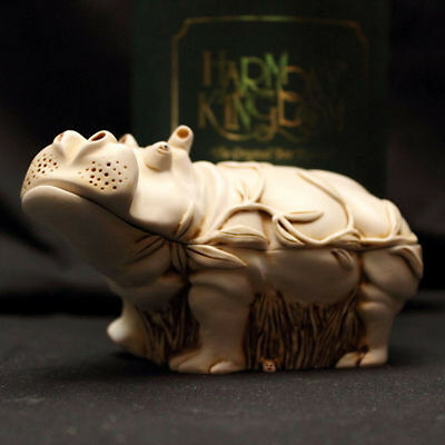 """""""Straight from the Hip"""" Large Hippo Harmony Kingdom Treasure Jest *Signed*"""