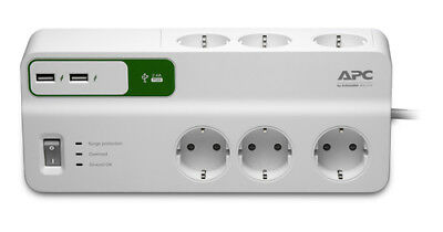 APC PM6U-GR 6AC outlet(s) 230V 2m Color blanco limitador de