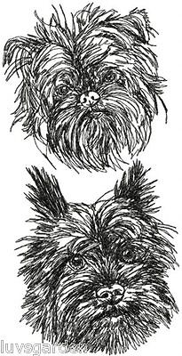 Affenpinscher Dog Breed Graphic Bathroom  HAND TOWEL SET EMBROIDERED