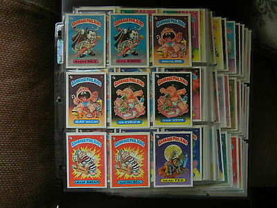 1985 85 GPK USA Garbage Pail Kids Series 1 ONE complete GLOSSY SET 82 cards NrMt