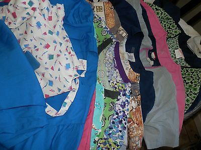 Huge Lot Of 14 Scrub Tops, 1 Pant, Carhart, Etc. Size XS-S, Free Shipping, Used