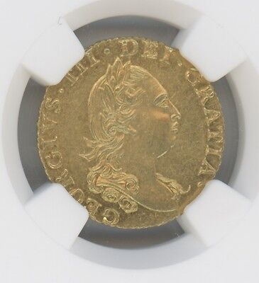 1786 Great Britain 1/2 Guinea KM# 605, GRADED MS62 BY NGC