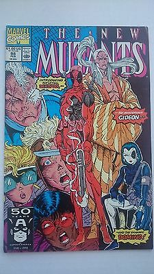 The New Mutants # 98  -Nm  Key 1St Appearance Of Deadpool  1991