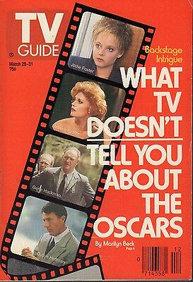 TV Guide Magazine March 25-31 1989 Jodie Foster Dustin Hoffman 072417nonjhe