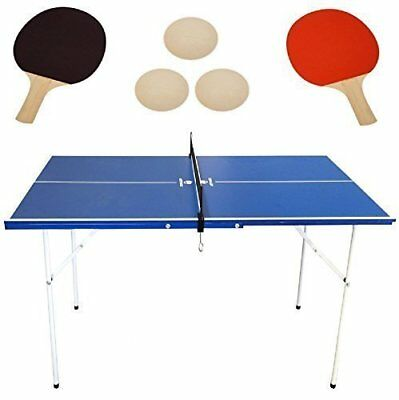 Homcom folding mini table tennis portable ping pong set for Small ping pong balls