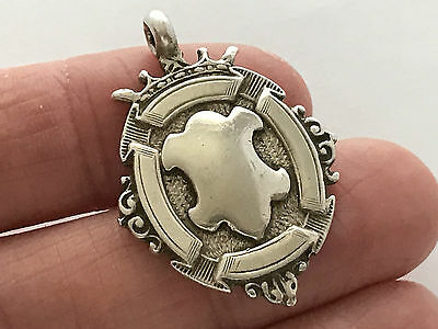 Sterling Silver Fob Medal, Not engraved, Made in 1932